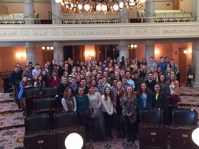 Butler Government Students Visit Statehouse by Sean Luttrell