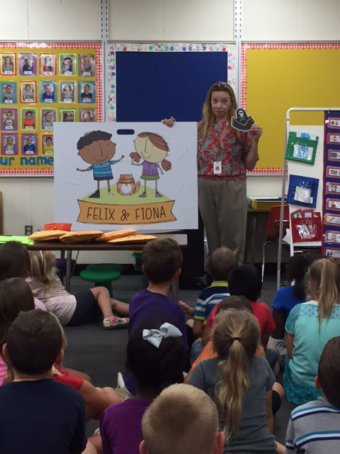 First Graders Learn About Their Library Club