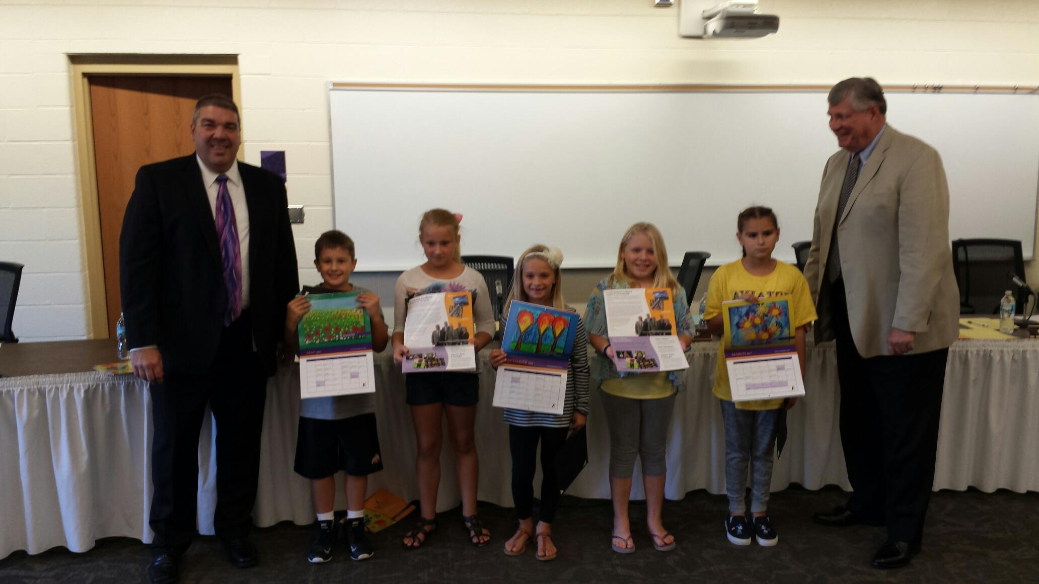 Students Honored for Contributions to District Calendar