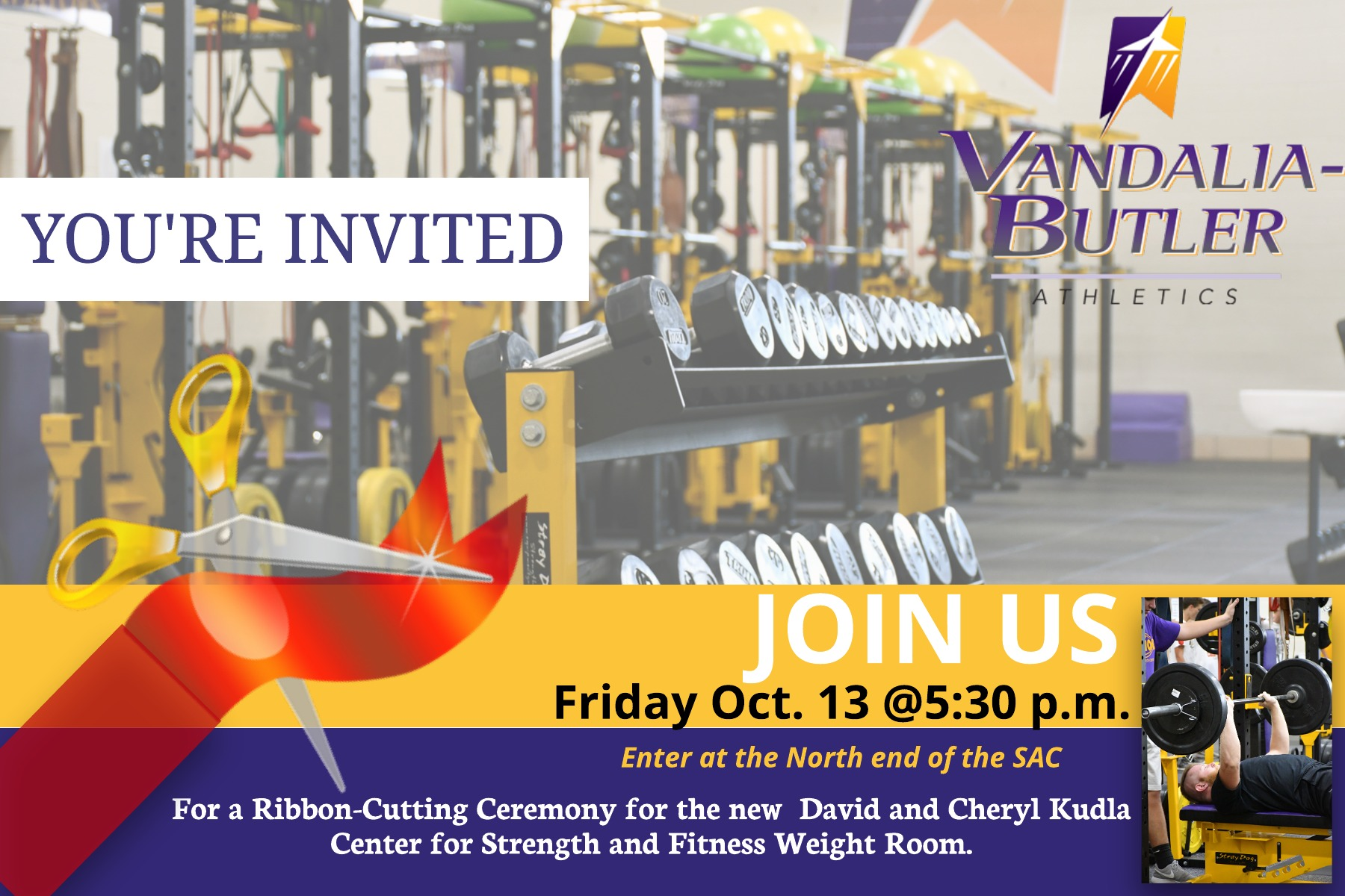 Weight Room Ribbon Cutting