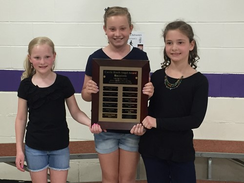 Three Third Graders Receive ANGEL Award