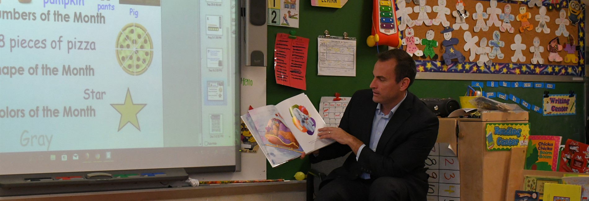 Superintendent O'Leary preschool special guest reader