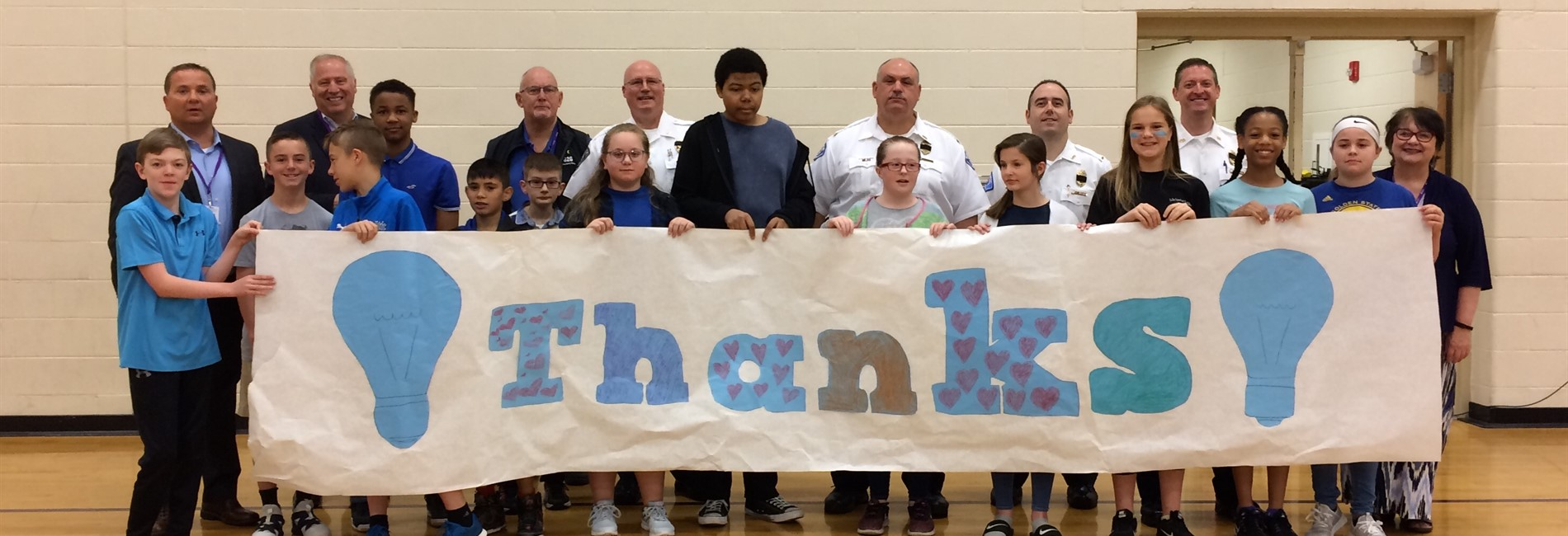 Morton Middle School Thanks Local Law Enforcement