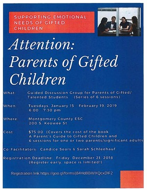 Attention Parents of gifted children
